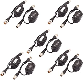 uxcell 10 Pcs Coaxial Video Ground Loop Isolator Balun BNC Male to Female for CCTV Camera