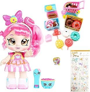 "Kindi Kids Snack Time Friends, Pre-School 10"" Doll - Donatina - Simple Joy Toys Gift Set"