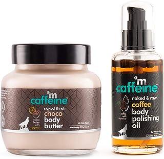 mCaffeine Coffee-Choco Intense Moisturization Set | Pre & Post Shower | Body Oil, Body Butter | All Skin | Paraben & Miner...