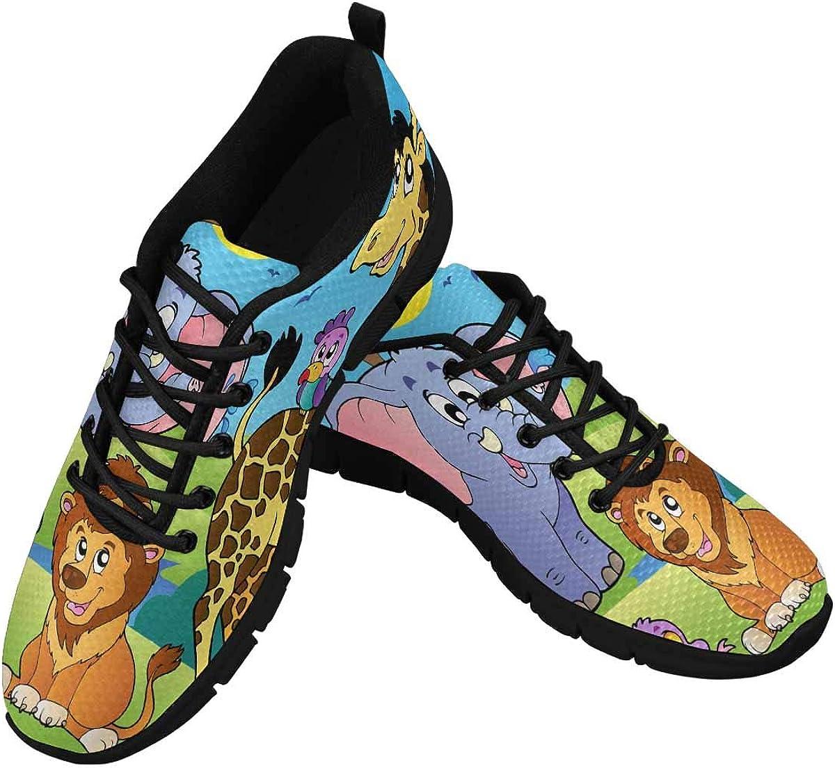 InterestPrint Cute Animals Women's Tennis Running Shoes Lightweight Sneakers