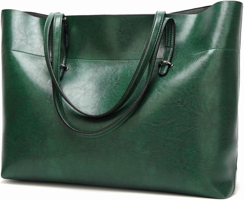 Cvthfyky Damen Leder Handtasche Schultertasche Damen Schultertasche Messenger Bag Einfache Einfache Einfache Wilde Damen Handtasche Schultertasche Bucket Female Bag (Farbe   Grün) B07KG1TRZM  Direktgeschäft cf96bc