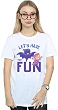 DC Comics Mujer Teen Titans Go Let's Have The Fun Camiseta del Novio Fit