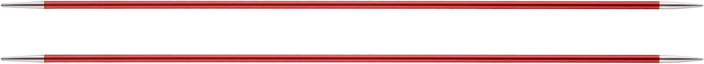 Knit Pro 15 cm x 4,50 mm Aluminio Zing de Tejer de Doble Punta para Morado