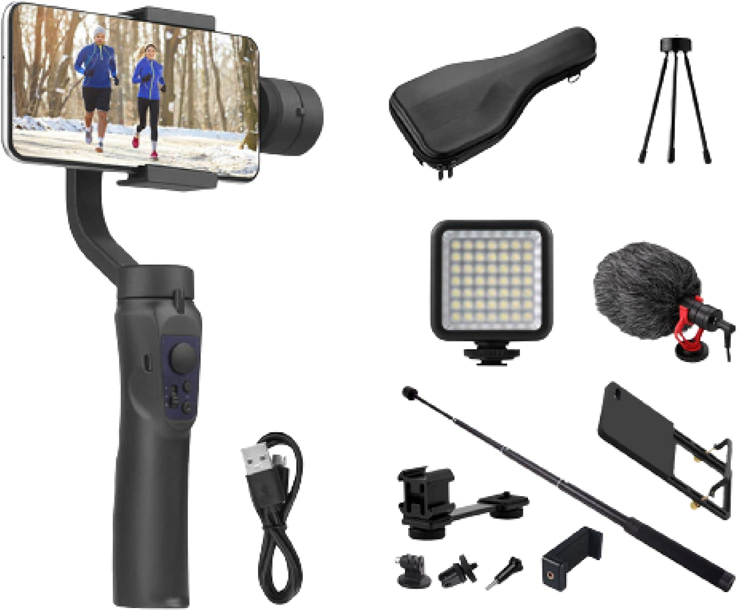 3 Axis Gimbal Handheld stabilizer Cellphone OFFicial site Video Smartph Record Courier shipping free