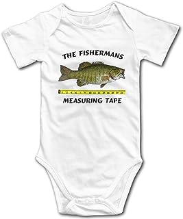 Fishermans Measuring Tape Baby Onesies Unisex Baby's Climbing Clothes Bodysuits Romper Short Sleeved Light Onesies White