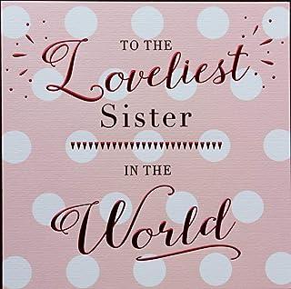 Female Birthday Card Sister - 138 mm sq inches - Zizi Cards