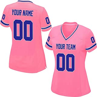 26515e49463 Custom Pink Mesh Replica Football Jersey Men Women Girls Embroidered Team  Name and Your Numbers