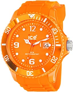 ice-summer Sili Collection poliamida y silicona naranja Mens Reloj SS. FO. B.S.11