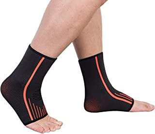 SGUTEN Ankle Brace Compression Support Sleeve,Planter Fasciitis Socks(Pair) with Arch Support,Eases Swelling,Heel Spurs,Achilles Tendon,Joint Pain Relief and Injury Recovery for Men&Women.