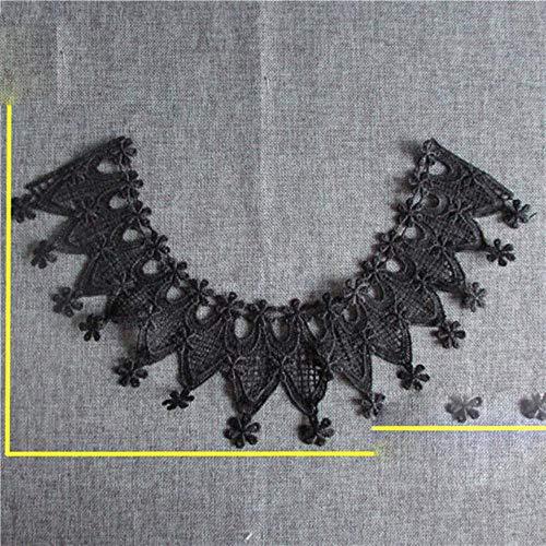 Venta caliente de tela de cuello de encaje Floral adorno de tela de encaje bordado de bricolaje escote apliques de costura artesanal YL124-YL139