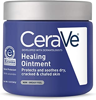 CeraVe Healing Ointment | 12 Ounce | Cracked Skin Repair Skin Protectant with Petrolatum Ceramides | Lanolin & Fragrance Free