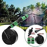 Writtian Trampolin Sprinkler Spielzeug für Kinder Trampolin Spray Wasserpark Spaß Sommer Outdoor Garten Wasserspiel Spielzeug Trampolin Zubehör, zum Anbringen am Trampolin Sicherheitsnetz Gehäuse 9m