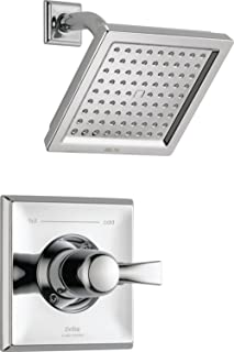 Delta Faucet Dryden 14 Series Single-Function Shower Trim Kit with Single-Spray Touch-Clean Shower Head, Chrome T14251 (Valve Not Included)