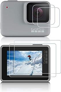 Protector de Pantalla para GoPro Hero 7 Silver White iTrunk 4 PCS Templado Cristal de la Pantalla de Cine Protector Accesorios para GoPro Hero 7 White Silver cámara de la acción