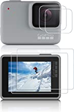 iTrunk Super Tempered Glass Film for GoPro Hero 7 Silver/White (2018) / 6/5, Ultra-Clear Tempered-Glass LCD Tempered Film for GoPro Hero7 (2018) Hero6 Hero5 Silver/White Action Camera (2pcs)