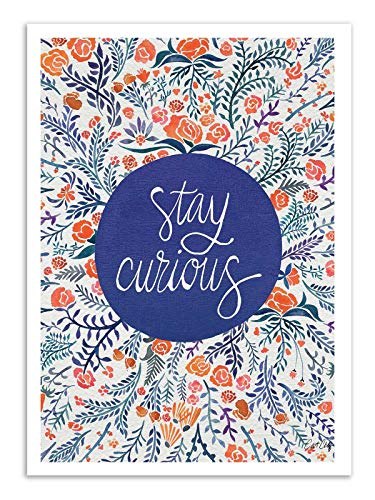 Wall Editions Poster Stay Curious Cat Shell