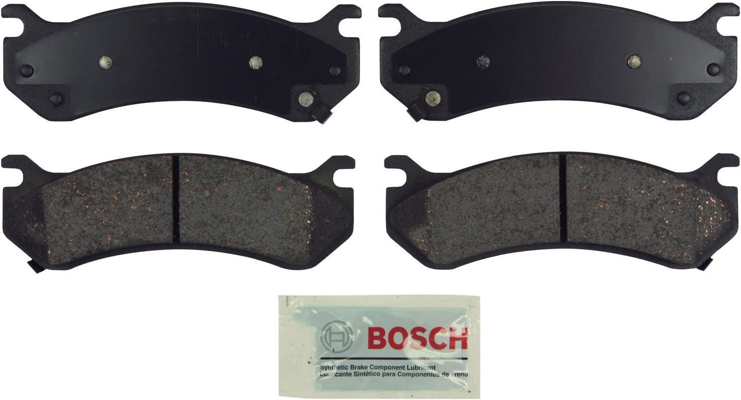 Bosch BE785 Blue Disc Brake Pad Set for Select Cadillac, Chevrolet, GMC, and Hummer Trucks, Vans, and SUVs - FRONT & REAR