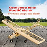 Mobiliarbus DW Hobby T2501 EP Cloud Dancer Formation Avion Balsa Bois 1.3 m envergure biplan RC Avion Jouet Jouet Avion pour Bricolage