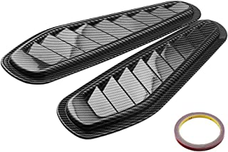 Carrfan 1 Pair Car Universal Decorative Air Flow Intake Scoop Turbo Bonnet Vent Cover Hood (Carbon Fibre)