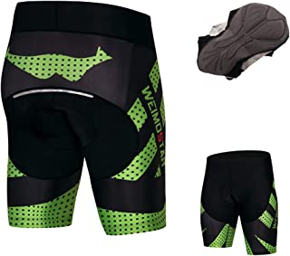 JPOJPO Cycling Shorts Men Coolmax 4D Gel Padded Tight Shockproof Reflective Safe at Night S-3XL