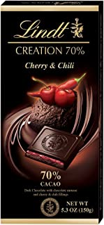 Lindt Creation 70% Cherry & Chili Bar, 5.3-Ounce Packages (Pack of 12)