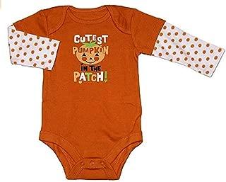 Assorted Witch, Pumpkin, Cat Baby Boys & Girls Halloween Bodysuit Dress Up Outfit