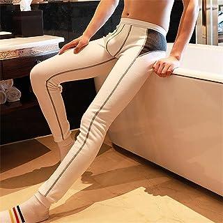 JFTMY Thermal Underwear Men Under Pants Bottoms Pajama Low Rise Tight Legging Pouch Warm Long Johns (Color : A, Size : M c...