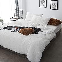 Duvet Cover Double Grey Velvet, Bedding Sets Double Size White, Duvet Cover Double Bed Twin Set Bear Fleece Warm & Cozy Bedding Bedroom Soft Warm 4 Pcs Quilt Cover Sets Flat Sheet