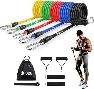 Bnoeo Bandas Elasticas Fitness Musculacion - Apilables hasta Las 100lbs. Tubos de Entrenamiento para Deportes Interiores o...