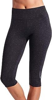 LaSculpte Womens Shapewear Yoga Pants Mid Waist Sports Tights Tummy Control Gym Workout Running Fitness Leggings Capri, 10-16