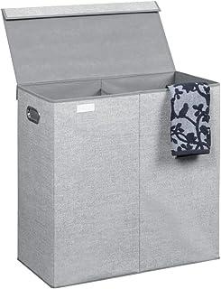 mDesign panier à linge pliable – sac pour lessive design avec nuance de jute – pour salle de bain, chambre d'enfant ou cha...