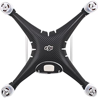 Bestmaple Carbon Grain Stickers Decals for DJI Phantom 4 PRO and Phantom 4 PRO+ Drone Body and Remote Controller Wrap Skin (Black)