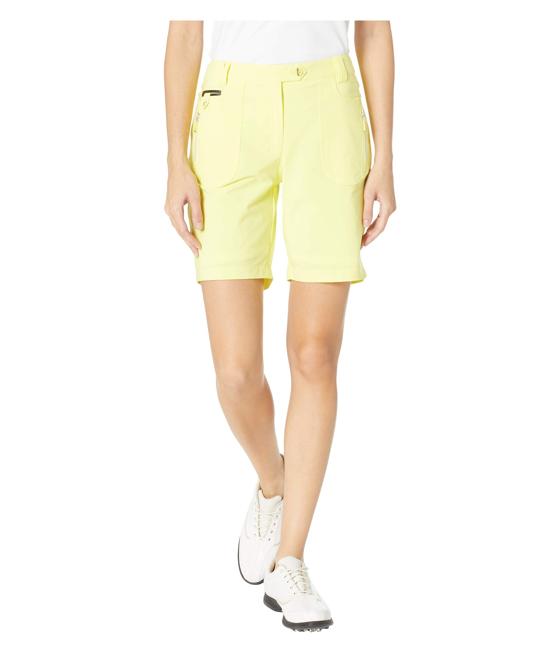 Jamie Sadock Womens Airwear Lightweight Shorts with Front Zip and Button Closure