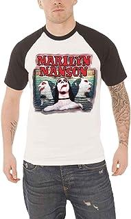 970aeef92aa18d Marilyn Manson T Shirt Sweet Dreams Official Mens White Raglan