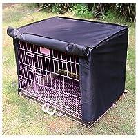 Molly SHOP1- ペットケージカバー風と雨猫犬アイアンケージカバー防水日焼け止めシェルターオープンペットケージカバーは犬ケージを含まない (Color : Black, Size : L)