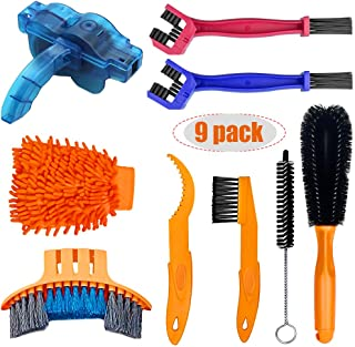 2 Tools ABSOAR Cycling Speed Drivetrain Cleaning Bike Cleaning Brush Motorcycle Chain Washer Kit