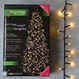Premier Decorations TreeBrights - 25m from the first bulb to the last bulb, with another 10m lead wire from the plug to the first bulb Compact Cluster Style Christmas Tree Lights Smaller than normal spacing between each bulb - just 2.5cm - 4 times as...