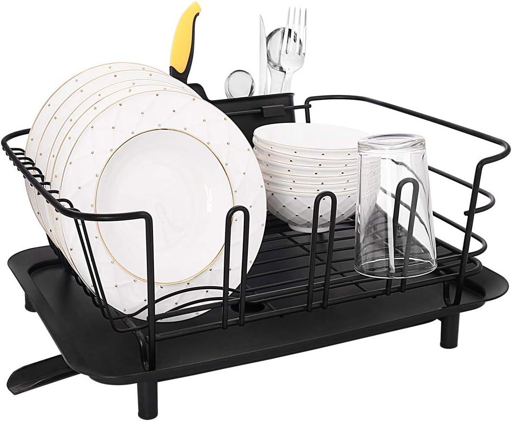 Punemi Dish Drying Same Brand new day shipping Rack Holder Drain with Utensil