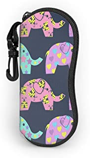 Colored Elephants With Different Patterns Glasses Case Protects & Stores Sunglasses, Reading Eyeglasses And Most Eye Wear, Suitable For Men, Women & Kids