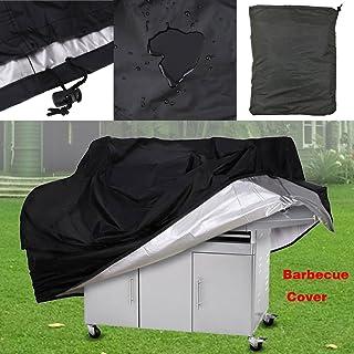 EBILUN extérieur Polyester Noir Portable étanche à la poussière anti UV Jardin barbecue à gaz Grill Coque Medium 144,8x 61x 116,8cm