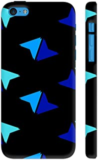 Colorpur Shapes Pattern On Black Printed Back Case Cover for iPhone 5c