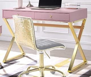 ACME Furniture Coleen Desk, Pink & Gold