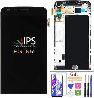 A-MIND لاستبدال شاشة LG G5 LCD، H840 H850 H820 H831 VS987 LS992 شاشة لمس LCD ومحول رقمي مع إطار، واقي شاشة مجاني ومجموعة أ...