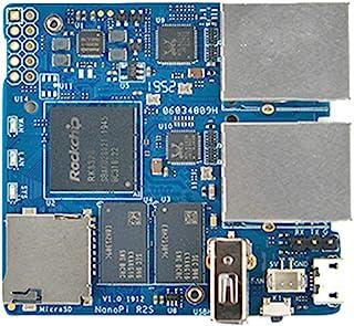 FriendlyARM NanoPi R2S OpenWrtシステムRK3328ミニルーターデュアルギガビットポート1GB DDR4 RAMデュアルギガビットイーサネットLEDE開発ボード… (NanoPi R2Sシングルボード)
