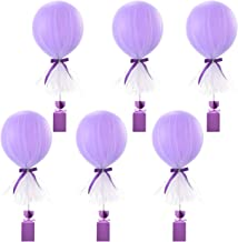 Purple Tutu Tulle Balloons Baby Shower Decorations for Girl Parties Weddings Centerpiece Birthday Princess Party Table Balloons Tulle Cover,6 Pack