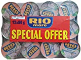 Rio Mare - Latas de pescado de atún en aceite de oliva, 12 x 80 g (paquete de 12)