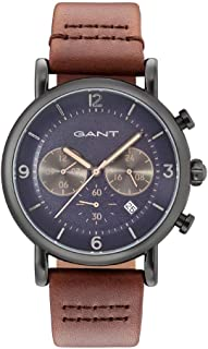 Gant Springfield Men's Blue Dial Leather Band Watch - G Gww007007, Analog Display