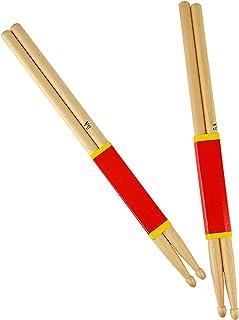 zzjj 2 Paar Klassisches Ahornholz Drum Sticks,5A Drumsticks mit tropfenförmigen Spitzen,Percussion-Zubehör für Musikinstru...