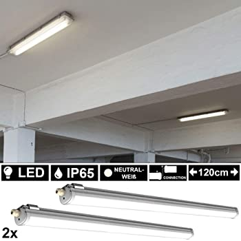 5er Set LED Wannen Leuchten Lager Hallen Tages Licht Feucht Raum Decken Lampen