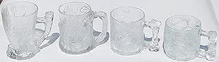 Flintstone McDonald 1993 Frosted Glass Mugs - Set of 4
